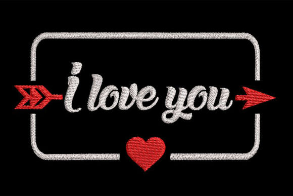 Download Free Words I Love You And A Heart In A Frame Creative Fabrica SVG Cut Files