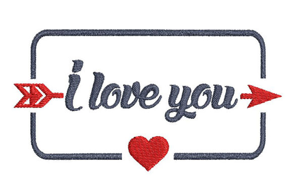 Download Free Words I Love You And A Heart In A Frame Creative Fabrica for Cricut Explore, Silhouette and other cutting machines.