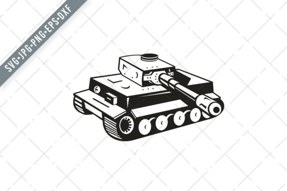 Download Free World War Two German Panzer Tank Graphic By Patrimonio for Cricut Explore, Silhouette and other cutting machines.