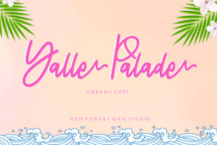 Print on Demand: Yalle Palade Script & Handwritten Font By Querencia Heart