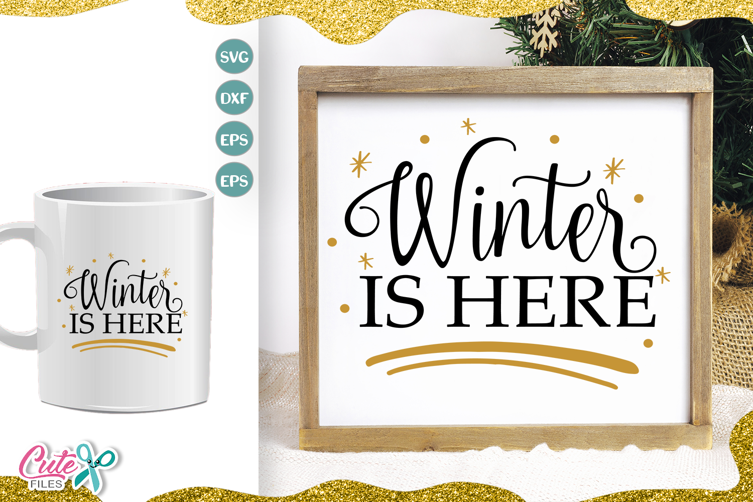 Download Free Winter Is Here Christmas Svg Cut File Graphic By Cute Files for Cricut Explore, Silhouette and other cutting machines.