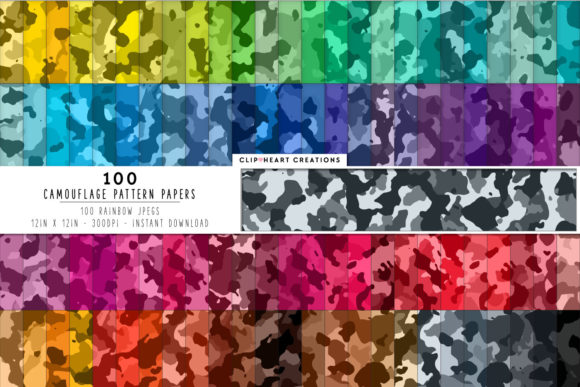 100 Camouflage Seamless Papers Graphic Backgrounds By clipheartcreations