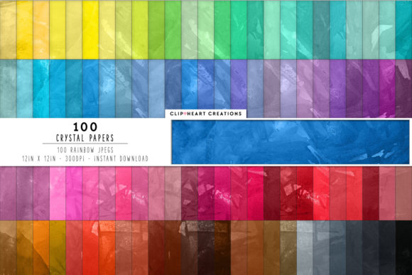 100 Crystal Textures Digital Papers Graphic Backgrounds By clipheartcreations