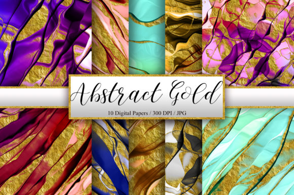 Abstract Ink Gold Glitter Background Grafik Hintegründe von PinkPearly