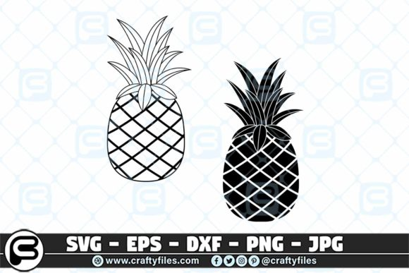 Ananas Pineapple   Graphic Crafts By Crafty Files