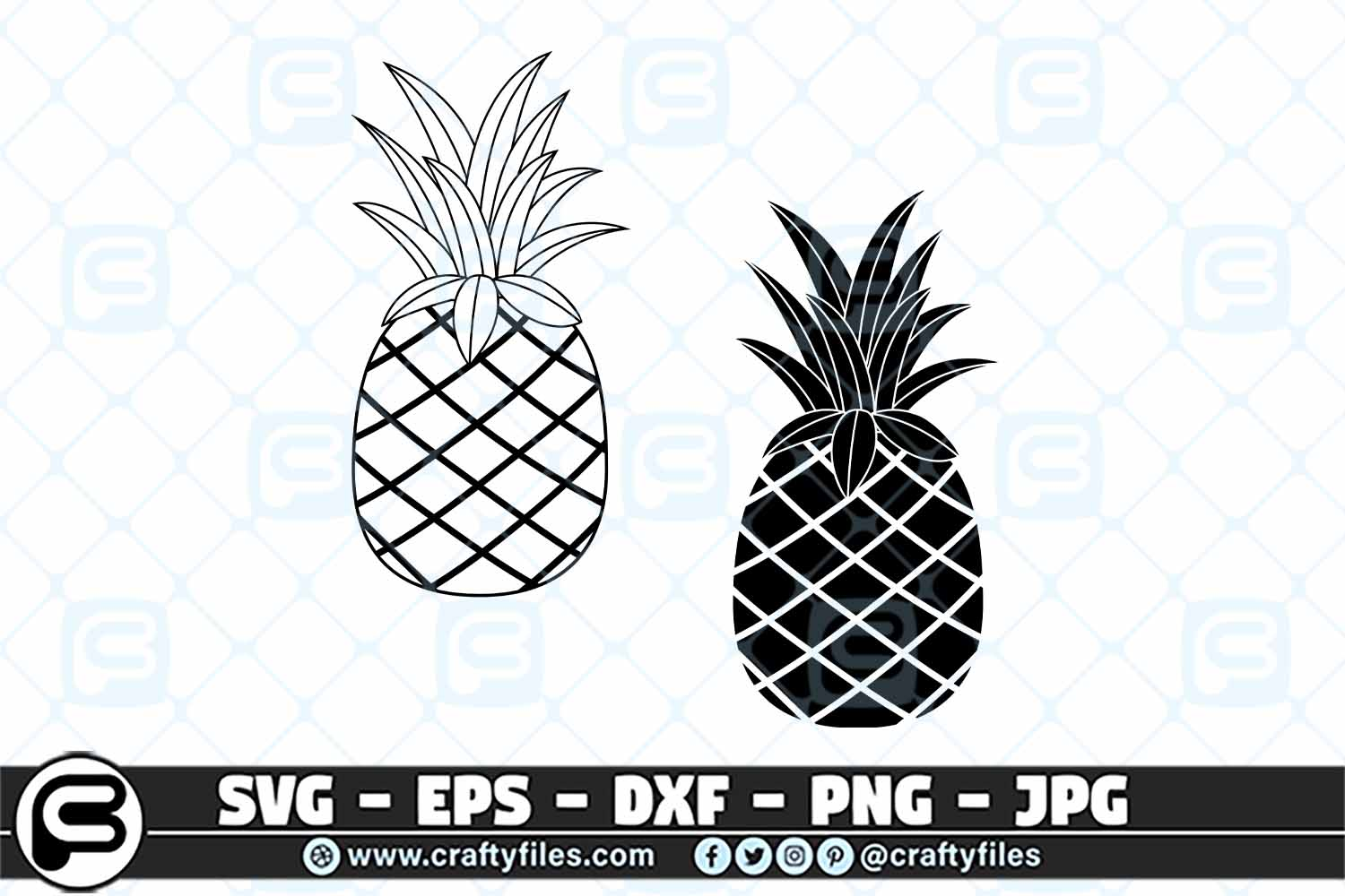 Download Free Ananas Pineapple Graphic By Crafty Files Creative Fabrica for Cricut Explore, Silhouette and other cutting machines.