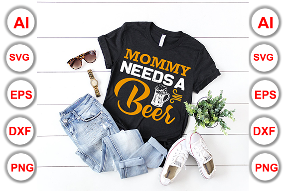 Beer T-Shirt Design Bundle Pack Graphic Print Templates By Graphics Cafe