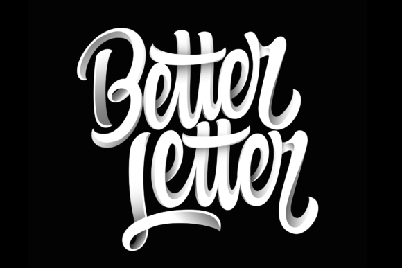 Print on Demand: Better Letter Vector Graphic Lettering Graphic Objects By rimbun bambu