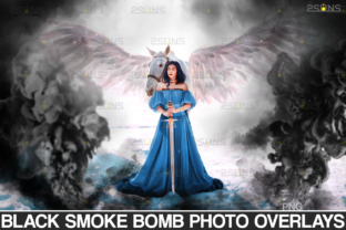Black Smoke Bomb Halloween Overlays Graphic Actions & Presets By 2SUNS
