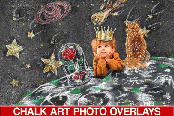 Chalk Art Overlay Little Prince Overlay Graphic Illustrations By 2SUNS