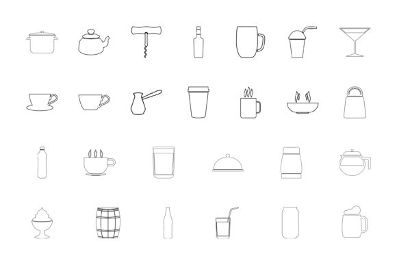 Print on Demand: Container for Storing Drinks and Food Grafik Icons von magistr0505