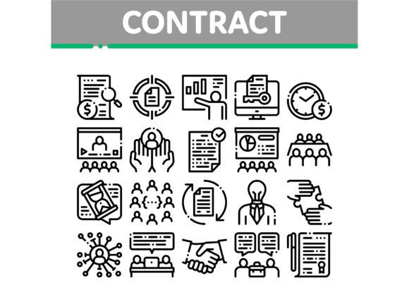 Contract Collection Elements Icons Set V Graphic Icons By pikepicture