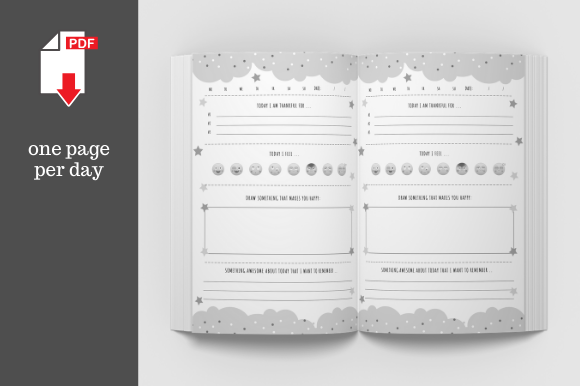 Print on Demand: Daily Gratitude Journal for Kids • 6x9 Graphic KDP Interiors By KDP Template Designs - Image 3