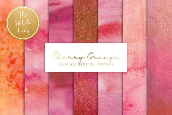 Print on Demand: Digital Backgrounds Cherry Red & Orange Graphic Backgrounds By daphnepopuliers