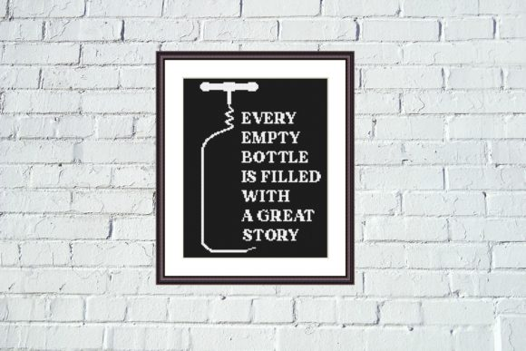Every Empty Bottle Funny Quote X Stitch Graphic Cross Stitch Patterns By e6702 - Image 4