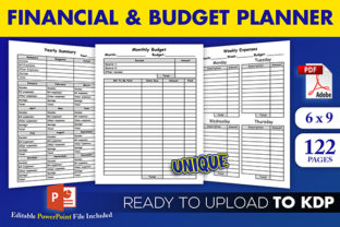 Print on Demand: Financial Monthly Budget Planner   KDP Graphic KDP Interiors By Beast Designer 1