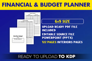 Print on Demand: Financial Monthly Budget Planner   KDP Graphic KDP Interiors By Beast Designer 2