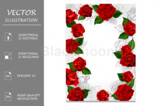 Frame of Red Roses Graphic Illustrations By Blackmoon9