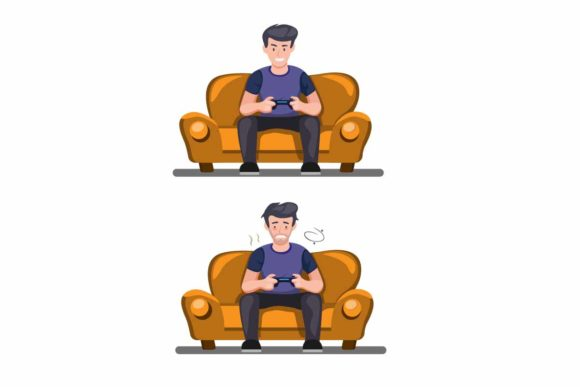 Print on Demand: Gamer with Condition Fit and Exhausted Graphic Illustrations By aryo.hadi