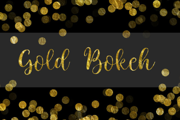 Gold Bokeh Background Digital Papers Graphic Backgrounds By PinkPearly