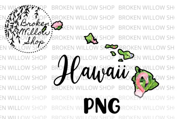 Download Free Hand Drawn Hawaii State Summer Flamingo Graphic By Broken Willow Shop Creative Fabrica for Cricut Explore, Silhouette and other cutting machines.