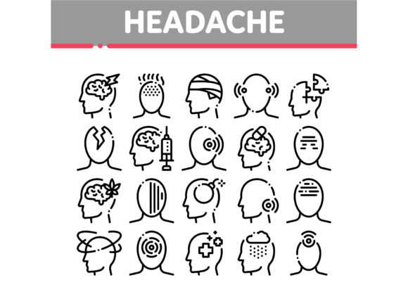 Headache Collection Elements Vector Icon Graphic Icons By pikepicture