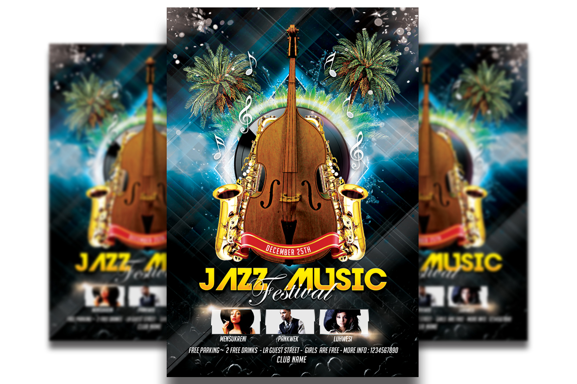 Download Free Jazz Music Festival Graphic By Matthew Design Creative Fabrica for Cricut Explore, Silhouette and other cutting machines.
