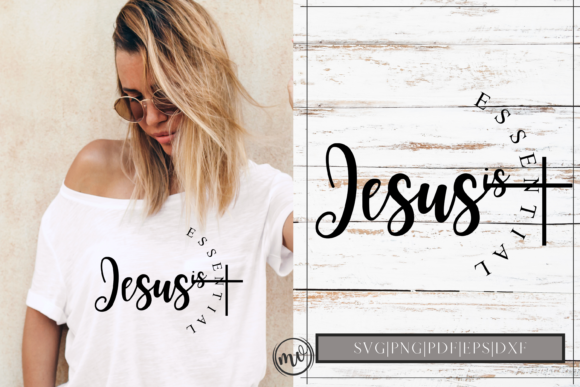 Download Free Jesus Is Essential Svg Design Cut File Graphic By Mockup Venue for Cricut Explore, Silhouette and other cutting machines.