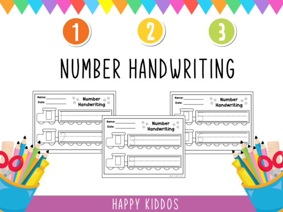 Number Handwriting 1-20 Graphic K By Happy Kiddos