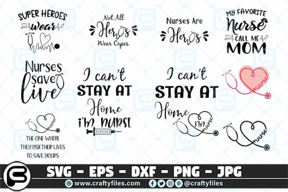 Nurses Are Heroes Bundle  Graphic Crafts By Crafty Files