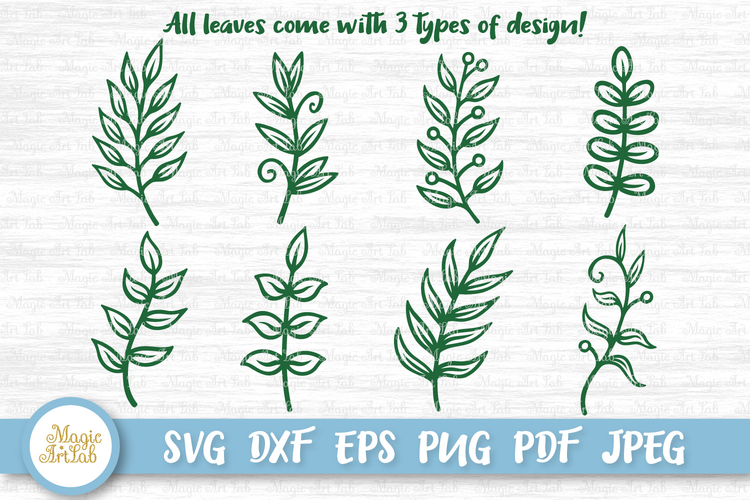 Download Free Paper Leaves Cut Files Graphic By Magicartlab Creative Fabrica for Cricut Explore, Silhouette and other cutting machines.
