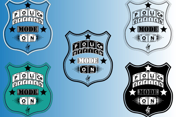 Print on Demand: Periodic Table Police Officer Mode on Graphic Illustrations By GraphicsFarm