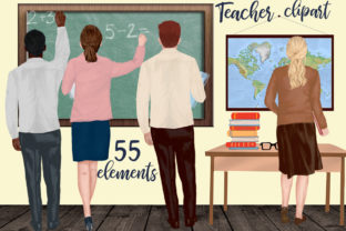 Print on Demand: Teachers Back to School Clipart Graphic Illustrations By LeCoqDesign