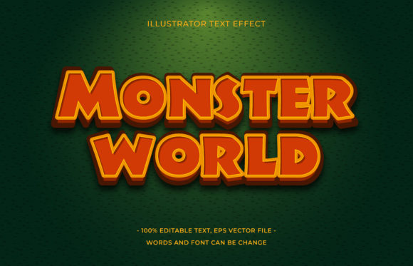 Text Effect - Monster World Graphic Add-ons By aalfndi