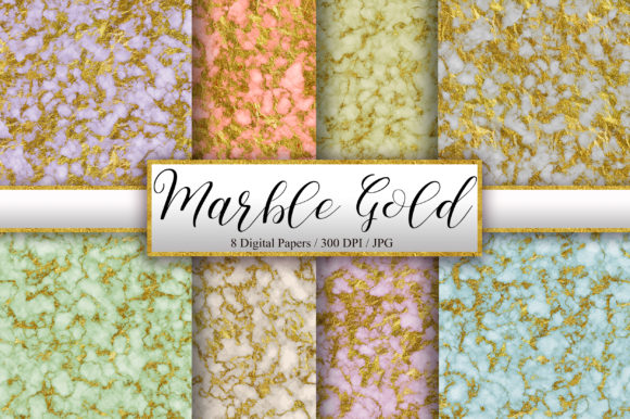 Vintage Marble Gold Glitter Background Graphic Backgrounds By PinkPearly