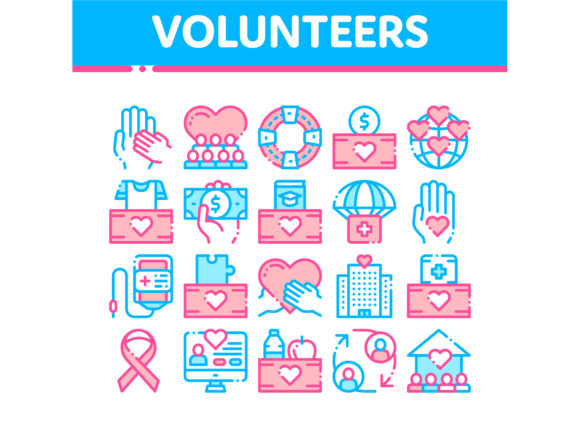 Volunteers Support Vector Thin Line Icon Graphic Icons By pikepicture