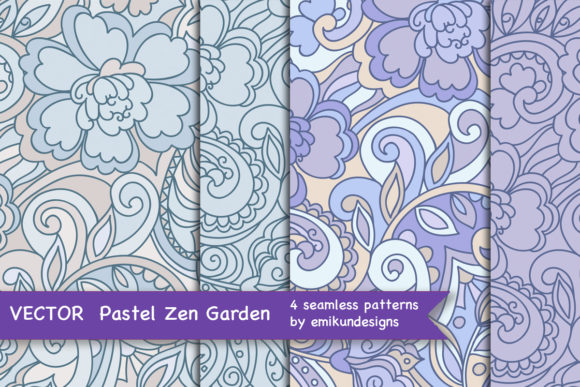 Zen Floral Seamless Vector Pattern Graphic Patterns By emikundesigns