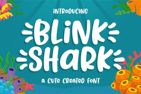 Print on Demand: Blink Shark Display Font By awansenja.type