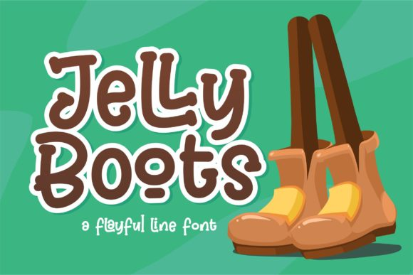 Print on Demand: Jelly Boots Display Font By awansenja.type