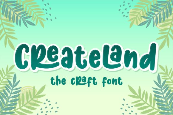 Print on Demand: Createland Display Font By awansenja.type
