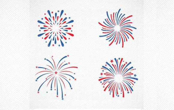 Print on Demand: 4th of July Fireworks  Graphic Crafts By SVG DEN