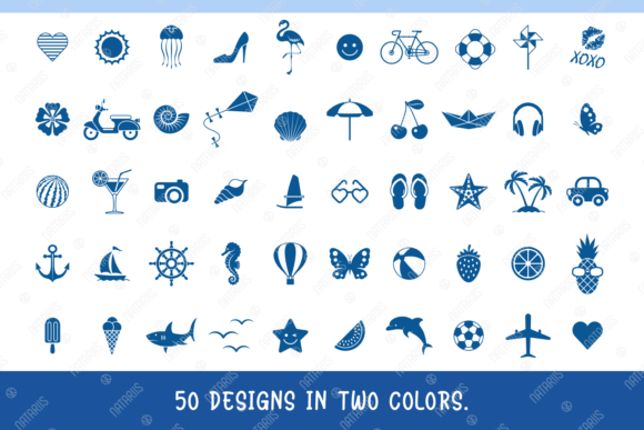 50 Summer Designs for Face Mask Graphic Download