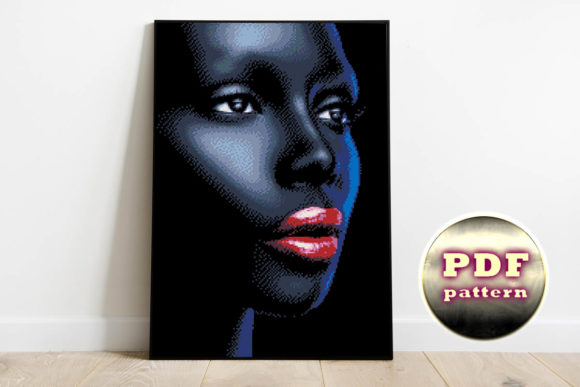 Print on Demand: African Woman Cross Stitch Pattern - Art Graphic Cross Stitch Patterns By talanpluss