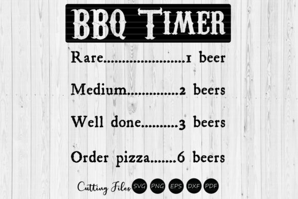 Bbq Timer Svg Cut File Funny Svg Graphic By Hd Art