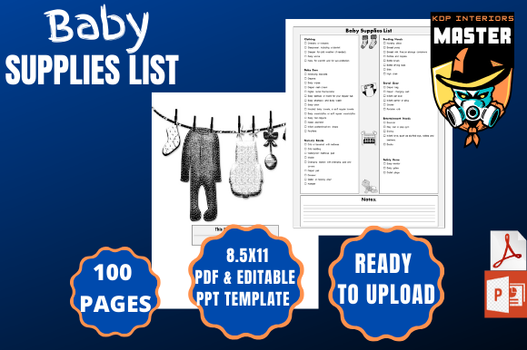 Print on Demand: Baby Supplies List Graphic KDP Interiors By KDP_Interiors_Master