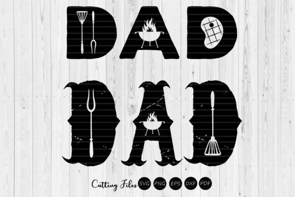 Download Free Dad Funny Grill Design Graphic By Hd Art Workshop Creative Fabrica for Cricut Explore, Silhouette and other cutting machines.