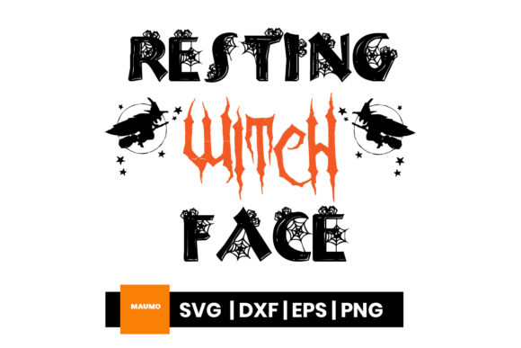 Download Free Halloween Resting Witch Face Graphic By Maumo Designs for Cricut Explore, Silhouette and other cutting machines.