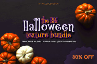 Print on Demand: Halloween Texture Bundle | Procreate Set Graphic Brushes By Inkclouddesign