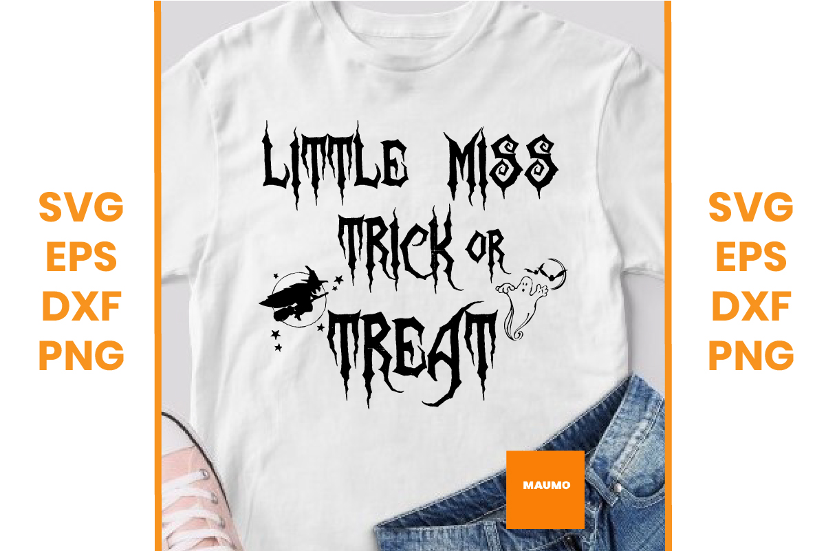Halloween Lil Miss Trick Or Treat Graphic By Maumo Designs Creative Fabrica
