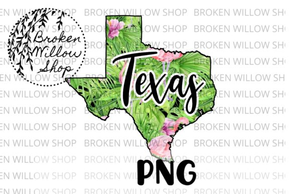 Hand Drawn Texas State Summer Flamingo Graphic Crafts By Broken Willow Shop